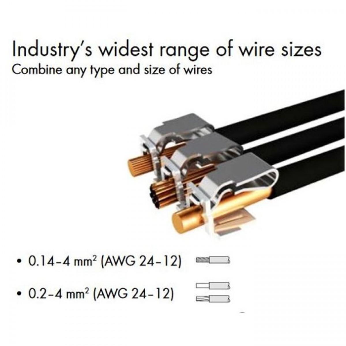 WAGO 222-413 Verbindungsklemme 3-polig 0,2-4mm² | Elektronik für ...