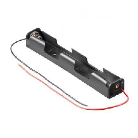BH-AA2LÖ/LAF Batteriehalter 2x Mignon AA Langform Lötanschluss
