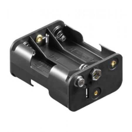 BH-AA6DR Batteriehalter 6x Mignon AA mit Druckknopfanschluss