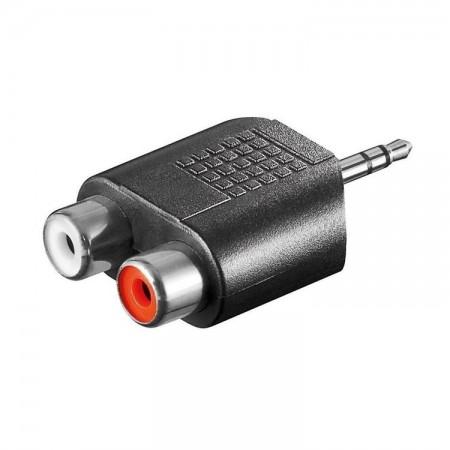 Cinch Adapter AUX Klinke 3,5mm Stecker 2x stereo Buchse