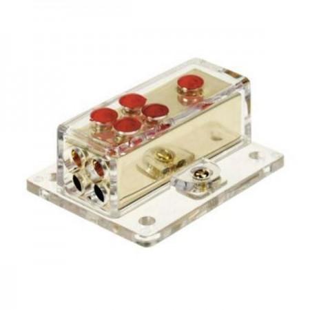 Verteilerblock (gold) 1 x 20 mm² / 4 x 10 mm²