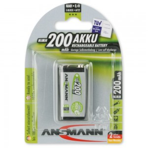 Ansmann NiMH Akku 9V E-Block 200mAh maxE bei mükra electronic