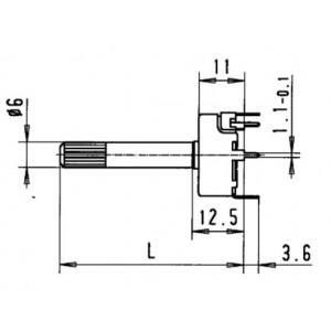 Draht-Trimmpotentiometer Metallgehäuse Form S 115Q7, 500R