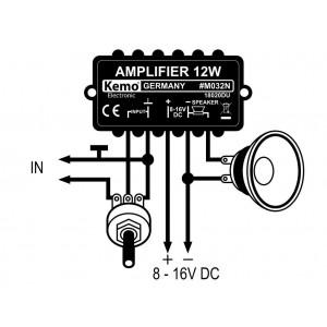 Kemo M032N Verstärker-Modul universal 12W