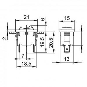 Marquardt 1808.1202 Wippschalter 6A 250V