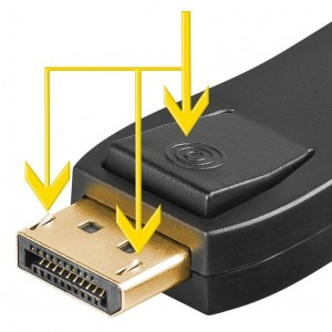 Display-Port-Adapter HDMI-Buchse>DP-Stecker
