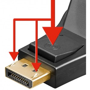 Display-Port-Adapter DVI-Buchse>DP-Stecker