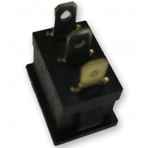 1800.1102 Wippschalter mit beleuchteter roter Wippe 250V 6A ON-OFF schwarz