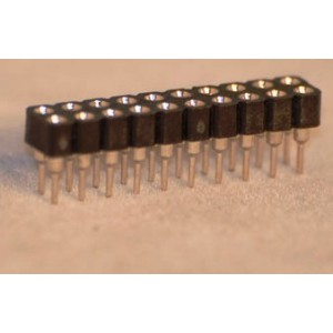 Assmann Buchsenleiste gedrehte Kontakte, gerade, zweireihig, Raster 2.54mm