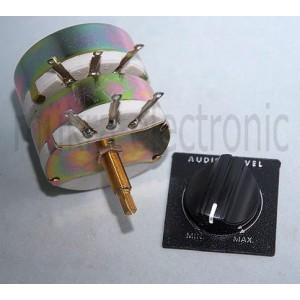Pegelsteller PS8/100/ST Lautsprecher Leistungsregler 8Ω 100W Tandem Stereo