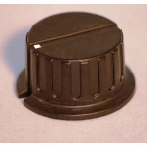 Drehknopf Kunststoff schwarz Metalleffekt Ø35mm für 6mm Achse