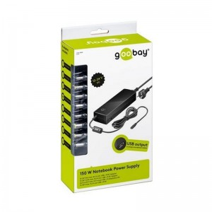 34,5 W Notebook-Netzteil inkl. 1x USB- und 8x DC-Adapter; 12 V - 24 V bis max. 8,5 A