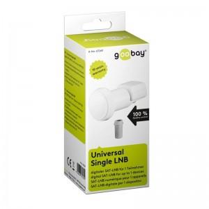 Universal Single LNB digitaler SAT-LNB (DVB-S2) für 1 Teilnehmer (4K/HDTV/3D Empfang)