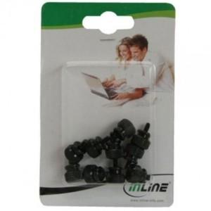 InLine® Rändelschrauben (schwarz) für Gehäuse, 12mm, 10er Pack