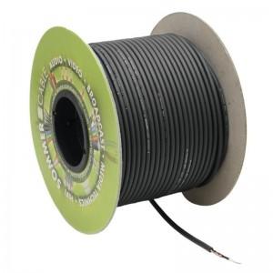 Instrumentenkabel Tricone® MKII 1x0,22 mm² PVC Ø 5,90 mm schwarz