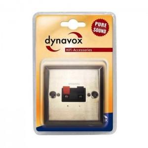 Dynavox LS-Wand-Anschlußblende Edelstahl Klippfixkabelverbindung