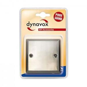 Dynavox Wand-Anschlussblende Edelstahl  Universal