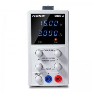 PeakTech® 6080A Hochauflösendes digital Labornetzgerät 0-15VDC 0-3ADC
