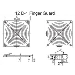 Sunon Schutzgitter mit Filter für 120mm Lüfter