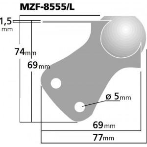 Monacor MZF-8555/L Lautsprecher-Metallecke Linksanschlag