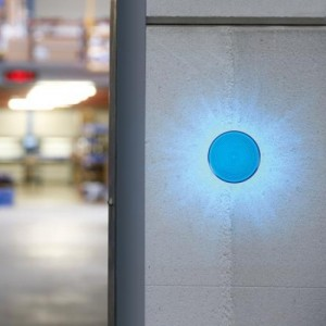 Velleman® HAA40B Blitzlicht blau 12VDC 150mA, Ø70mm, IP44