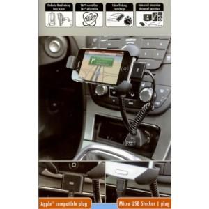 Ansmann Kfz-Halter mit USB-Lader für den Zigarettenanzünder