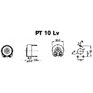 PT10LV Trimmpotentiometer liegende Ausführungalle alle Werte
