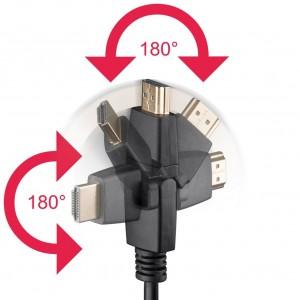 High Speed HDMI™ Kabel Ethernet drehbare Stecker 1,5m MMK-HDMI-150AW