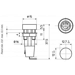 G-Sicherungshalter - Sicherungshalter für Sicherungen 5x20mm bis 10A