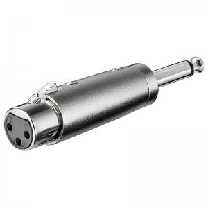 XLR-Adapter XLR-Buchse auf Klinkenstecker 6,3