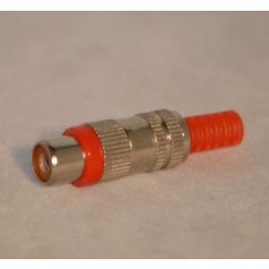 Cinch-Kupplung Metall mit rotem Kennring