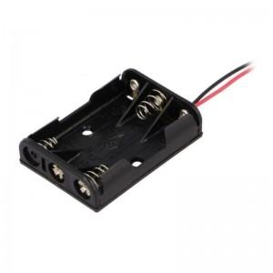 BH-431-1A COMF Batteriehalter für 3x micro AAA Kabelanschlüsse