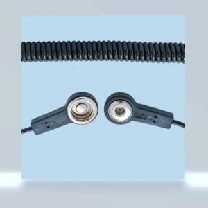 BJZ-Erdungskabel Spiralkabel 2x Druckknopf 4/10,3mm