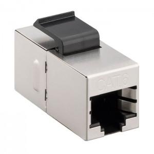 CAT 6 KeyStone 2x RJ45 Modularkupplung, STP geschirmt