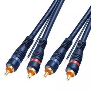 Goobay Cinch-Verbindungskabel 5m 2x Cinch-Stecker auf 2x Cinch-Stecker