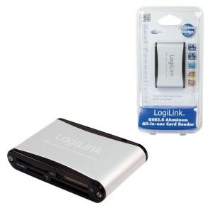 LogiLink® Cardreader USB 2.0 extern Alu