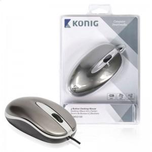 Desktop-Maus USB 3 Tasten Scrollrad Beidhändig 800 dpi
