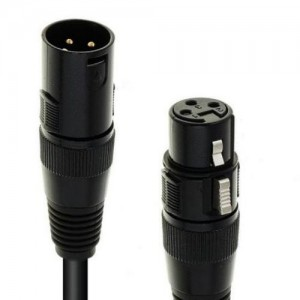 EUROLITE DMX Kabel XLR 3pol 3m sw