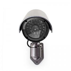 Außenkamera-Attrappe IR-LED IP44 Grau Dummycam