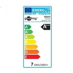 LED-Filament Lampe 7W E27 warmweiss