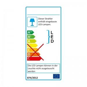 Alu-LED-Leiste 60-SMD-LEDs w-weiss