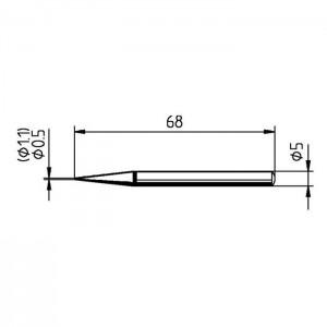 Ersa Lötspitze 0032BD bleistiftspitz 1,1mm für Ersa30S