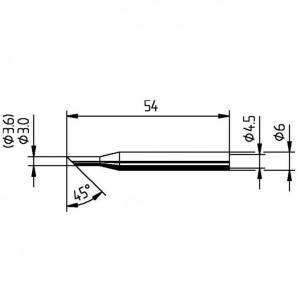 Ersa Lötspitze 0162LD angeschrägt 45° Winkel 3,6mm
