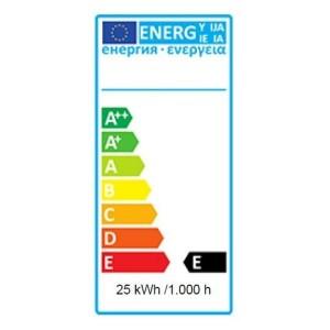 Blaufarbige Glühlampe 25W mit E27 Schraubsockel