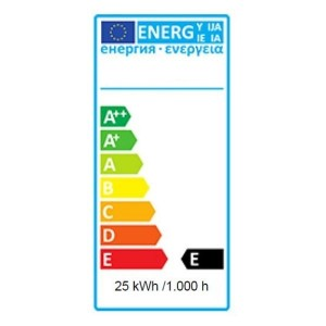 Rotfarbige Glühlampe 25W mit E27 Schraubsockel