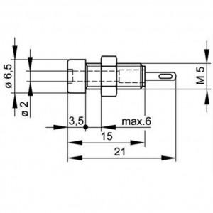 Hirschmann® MBI 1 rot Miniatur-Buchse Ø 2mm isoliert
