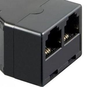 ISDN T-Adapter RJ11/RJ14-Buchse (6P4C) > 2x RJ11/RJ14-Buchse (6P4C)