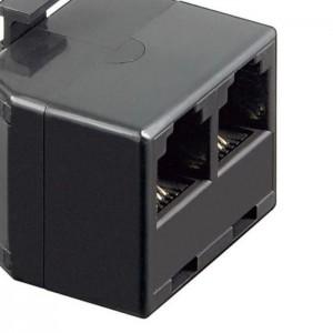 ISDN T-Adapter RJ11/RJ14-Stecker (6P4C) > 2x RJ11/RJ14-Buchse (6P4C)