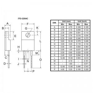 Taiwan Semiconductor SFAF1608G Super Fast Gleichrichterdiode 16A glaspassiviert