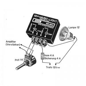 Kemo® M065 Halogen Lichtorgel Modul für 12V Lampen